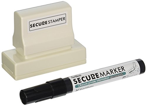 SHACHIHATA INC Ink Stamp Security Kit, Large, 1 x 2-13/16 Inches, Black (XST35303)