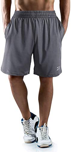 "Roadbox Men's 7"" Workout Running Shorts Lightweight Gym Athletic Shorts Basketball Shorts for Men with Pocket"