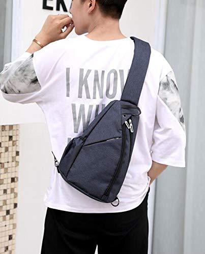 Bandoulière Chest Messenger Multifonction Dos Sports Mode Le Air bleu Polyester À Plein De Épaule Sac Bag L'homme Élégant Bg7XZq