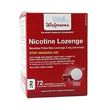 (Walgreens Nicotine Lozenge, 2 mg, Cherry, 72 ea)