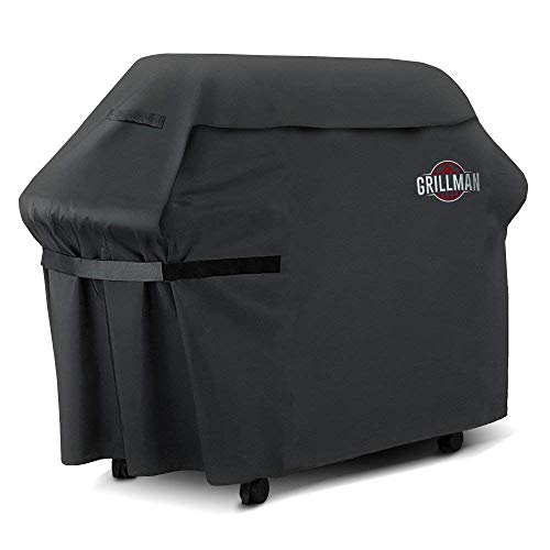 """Grillman Premium BBQ Grill Cover, Heavy-Duty Gas Grill Cover for Weber, Brinkmann, Char Broil etc. Rip-Proof, UV & Water-Resistant (60"""" L x 28"""" W x 44"""" H)"""