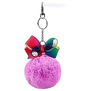 Amazon Com Inkbloo Cute Pompom Jojo Siwa Keychain For