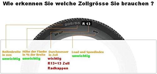 TEILE-24.EU Q13R Malinowski 4 Unidades, 13, Incluye Cepillo Limpiador Tapacubos Color Rojo y Negro