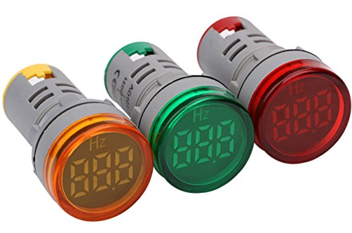 0-99Hz AC Frequency Meter Tester, Yeeco AC 24-500V Frequency Counter 3pcs Green Red Yellow LED Signal Indicator Light Panel
