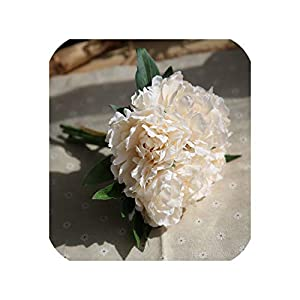 loveinfinite Artificial Flowers Peony Bouquet for Wedding Silk Flower Hydrangea 5 Heads for Home Party Decor Autumn Fall Vivid Fake Flower,4 89