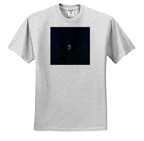 TDSwhite – Miscellaneous Photography - Creepy Moonlight Tree Silhouette Halloween - T-Shirts - Toddler Birch-Gray-T-Shirt (3T) -
