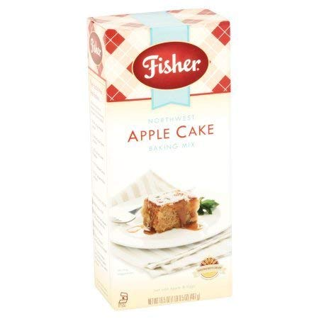 Fisher All Natural Northwest Apple Cake Mix, 18 Ounce Bag, Pack of 3