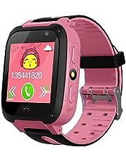 LayOPO Kids GPS Tracker Watch, Waterdichte Kinderen Smart Horloge Met 1,44 Inch Touch Screen/Call/GPS/Activiteit Tracking/Game/HD Camera, Tracker SmartWatch Telefoon Voor Kinderen Verjaardag Grote Geschenken