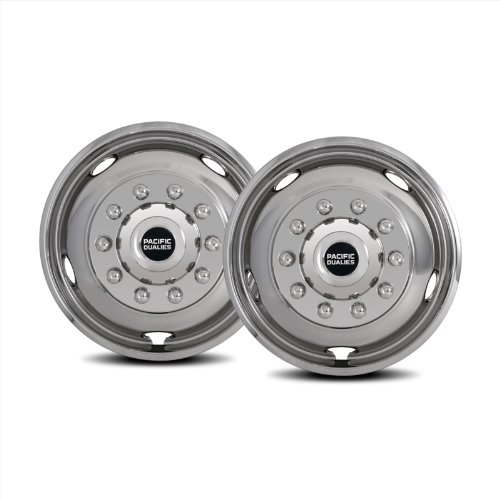 Pacific Dualies 44-2950 19.5'' Polished Stainless Steel Wheel Simulator Front Tag Axle Kit for 2008-2014 Dodge RAM 4500/5500 Truck RV Motorhome by Pacific Dualies