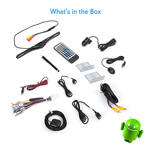 """Android Din Dash Camera, 10"""" Touchscreen WiFi, Bluetooth Wireless, Player, GPS Slot AM -"""