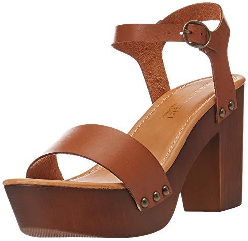 Madden Girl Women's LIFFT Heeled Sandal, Cognac Paris, 7.5 M US (Tillys Kids Girls Shoes)