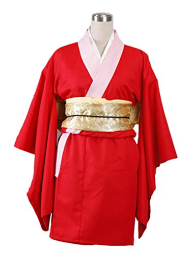 Love Jump Gintama Cosplay Costume-Leader Kagura Cheongsam 7Pcs Set