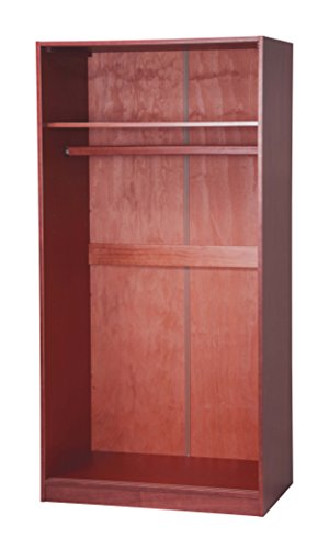 100 solid wood 2 sliding door wardrobe armoire closet by for 1 door wardrobe with shelves