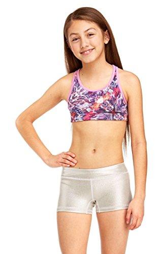 e8750b95c Amazon.com: Soffe Girls Dri Fit Metallic Short Cheer/Dance Short 2-Pack  Bundle: Clothing