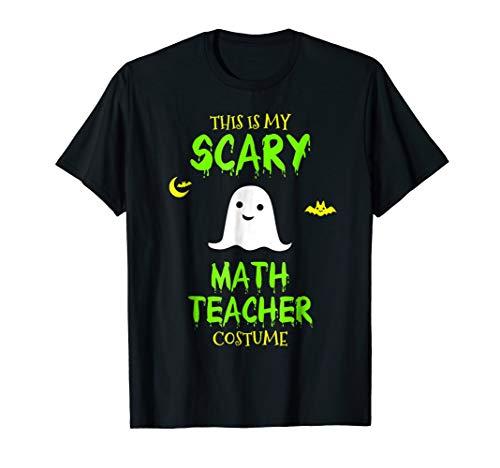 Mens Scary Math Teacher Costume Halloween T-Shirt Large Black -