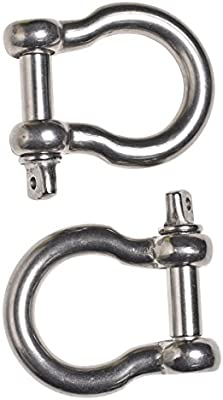 6614 lbs Heavy Duty D Ring for Vehicle Recovery Towing More Raging Bull 3//4 Shackles Accessory for Jeeps /& Truck- Set of 2 T/&HI-B07CS57FCQ Stump Removal Capacity Rugged 3.31 tons