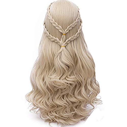 Max Beauty Long Curly Wave Cosplay Wig with Braid for Mother of Dragons for Halloween Wigs for Game of Thrones Season -