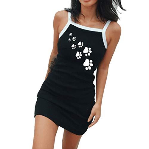 (Toimothcn Vest Dress Women, Women's Casual Vest Camisole Strap Mini)