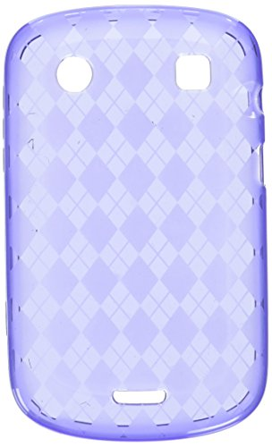 Asmyna BB9930CASKCA070 Argyle Slim and Durable Protective Cover for BlackBerry Bold 9930 - 1 Pack - Retail Packaging - Purple