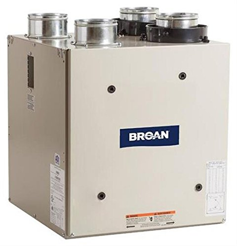 Broan ERV70T Energy Recovery Ventilator, 120V Top-Ports for 4