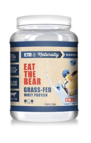 Eat the Bear Grass-Fed Whey Protein Blueberry Muffin 1 55 lbs 704 g
