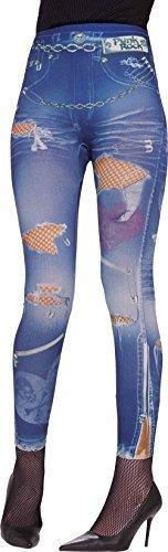 Forum Novelties Women's Size XS-Small 2-6 80s Punk Rocker Jeans Costume Leggings