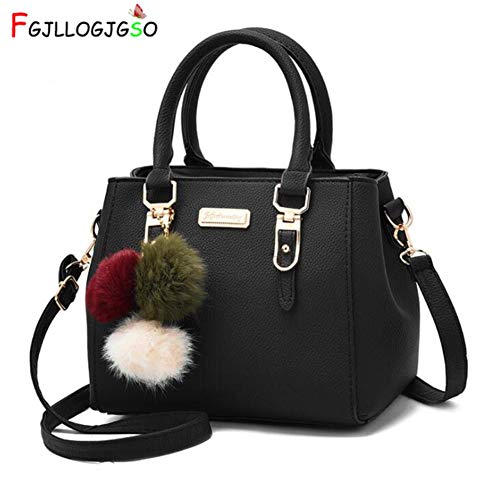 Amazon.com: Women Hairball Ornaments Totes Solid Sequined Handbag Party Purse Lady Messenger Crossbody Shoulder Bags: Computers & Accessories