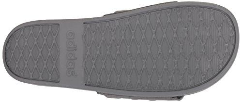 adidas Mens Adilette Comfort Slide Sandal, Grey/Grey/Grey, 15 M US Grey/Grey/Grey