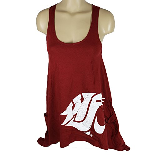 Glitter Gear Washington State Cougars Official NCAA Tank Dress W/Handkerchief Hem And Large Logo Flare M by by Glitter Gear