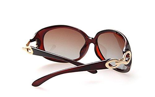 Tamaño Sol Red de de Sol de Gafas Gran MY de Gafas Moda Color Red de Sol Redondas Gafas Gafas de de Gafas Sol Sol Gafas vqww0xSA