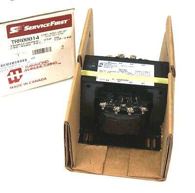 NEW HAMMOND MANUFACTURING TRR00014 TRANSFORMER 240-480V, 250VA, 136737