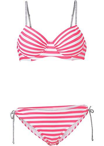Damen Bügel Bikini (2-tlg. Set), 217530 in Hummer/Weiß, Cup B
