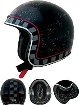 Casco Jet Negro Mcqueen Moto Tipo Homologado Italia Racer Custom Biltwell M negro