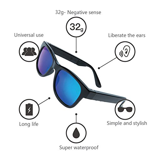 9317427239 Bone Conduction Bluetooth 4.1 Headphones Polarized Sunglasses Myopia  Glasses Waterproof Wireless Handfree Earphones Headset Hearing Aid