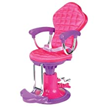 Doll Chair, Salon Doll Chair for 18 Inch American Girl Doll Bed Room, Doll Furniture Provides a Perfect Doll Salon Chair for Brushing your Dolls Hair