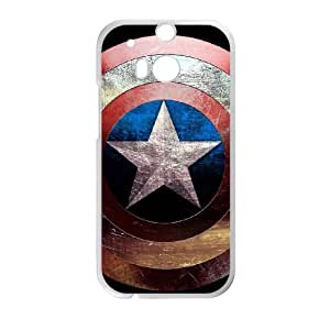 HTC One M8 Cell Phone Case White Captain America RBP Personalized Cheap Cell Phone Case