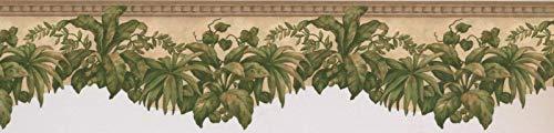 (Wallpaper Border Scalloped Foliage Leaves 5