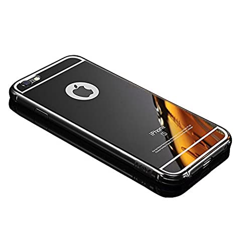 iPhone 5C case,Vandot Luxury Ultra Slim Thin Detachable Metal Aluminum Bumper Frame Bling Mirror Case Cover PC Hard Back Shell Anti-scratch shockproof Protective skin (Iphone 5c Cases Of Mice And Men)