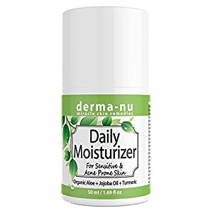 Daily Moisturizer for Sensitive and Acne Prone Skin. Best for Oily Skin. Light Anti-Aging & Anti-Wrinkle Facial Cream for Day and Night. All Natural & Organic - great for Woman and Men - 50ml