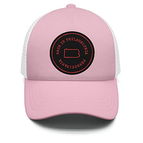 - Light-Pink Unisex Womens One Size Cute Nice Caps Hat Sun Made-in-Pennsylvania-(2)-