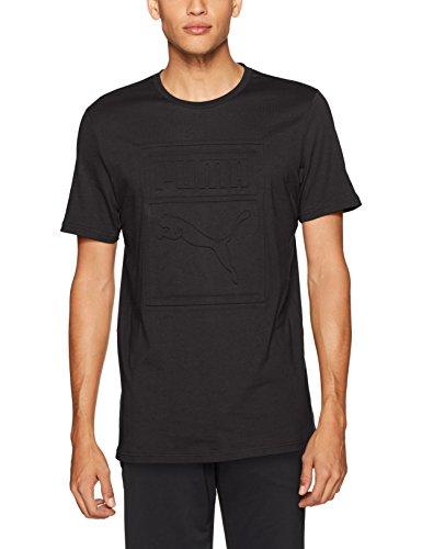 PUMA Men's Archive Embossed Logo T-Shirt, Black, XX-Large