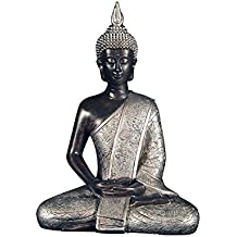 Ten Waterloo 8 inches Tall Thai Buddha Statue, Meditating Peace Harmony Statue