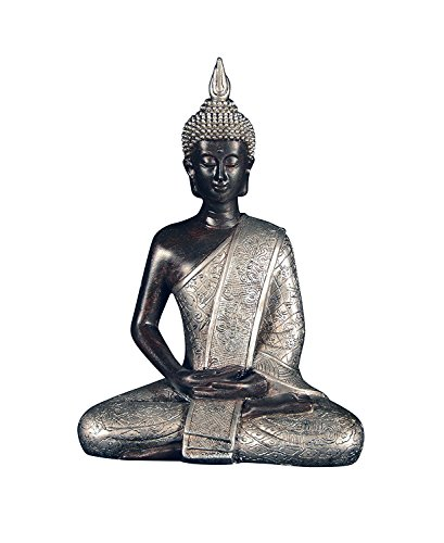 Ten Waterloo 8 inches Tall Thai Buddha Statue, Meditating Peace Harmony Statue by Ten Waterloo