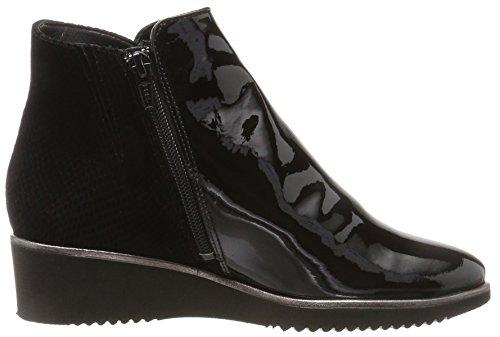 Genua Weite Black Ankle Hassia Women's Schwarz Boots 0100 K C6x5w