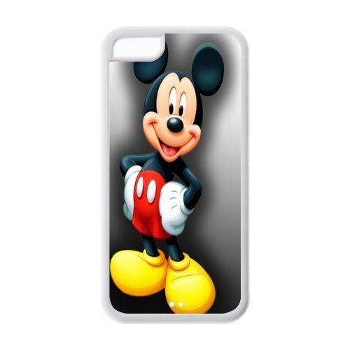 Case With Iphone 5C,Mickey Mouse Design TPU Screen Protector Hard Case for Apple iPhone 5c