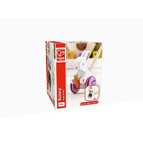 Schiebespielzeug Häschen NEU weiß/lila/natur Holzspielzeug