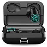 Wireless Bluetooth Earbuds,Arbily Bluetooth Earphones with 3000 mAh Charging Case,Cordless Earbuds IPX7 Waterproof True Wireless Earbuds for iPhone iOS Android,Black
