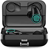 Upgraded Wireless Bluetooth Earbuds, Arbily Noise Cancelling Earbuds with Microphone IPX7 Waterproof Cordless Headphones with Charging Case, v5.0 Bluetooth Wireless Airpods for iPhone Android