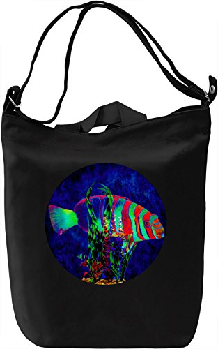 Tropical Fish Borsa Giornaliera Canvas Canvas Day Bag| 100% Premium Cotton Canvas| DTG Printing|