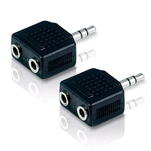 JINHEZO 3.5mm Stereo Plug To 2 x 3.5mm Stereo Jack Splitter Adapter primary